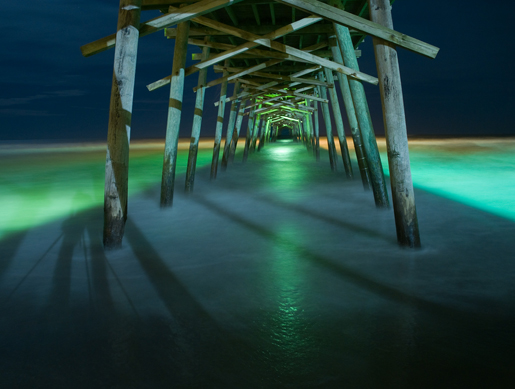 Moonlight at Bogue Pier